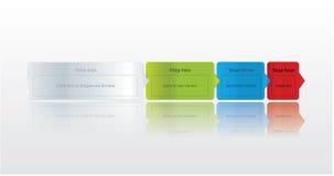 Quattro punti facili. Etichette moderne di vettore con spazio per testo e CI Immagini Stock Libere da Diritti