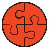 Quattro puzzle Simbolo di vettore Fotografia Stock Libera da Diritti