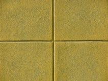 Quattro quadrati gialli Fotografia Stock