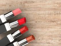Quattro rossetti Fotografia Stock Libera da Diritti