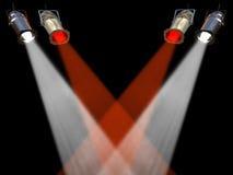 Quattro rossi ed indicatori luminosi bianchi del punto illustrazione di stock
