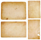Quattro scarti di carta dell'annata Fotografia Stock Libera da Diritti