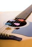 Quattro scelte nelle corde della chitarra Fotografia Stock Libera da Diritti