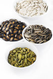 Quattro semi del grano Fotografia Stock Libera da Diritti