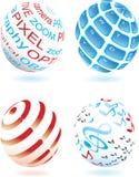 Quattro sfera differente no. 2 illustrazione vettoriale
