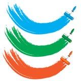 Quattro spazzole del rullo di colore illustrazione vettoriale