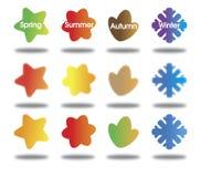 Quattro stagioni Fotografie Stock