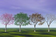 Quattro stagioni. Fotografia Stock Libera da Diritti