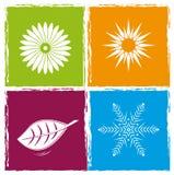 Quattro stagioni di colore Fotografia Stock