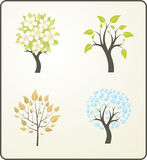 Quattro stagioni di un albero Fotografia Stock Libera da Diritti