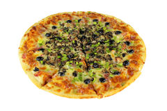 Quattro Stragioni Pizza Complete Isolated Royalty Free Stock Photo