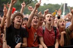 Folla di festival Immagine Stock