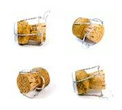 Quattro sugheri del champagne Fotografia Stock Libera da Diritti