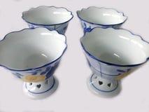 Quattro tazze del gelato Fotografie Stock