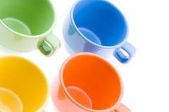 Quattro tazze del tè Immagine Stock