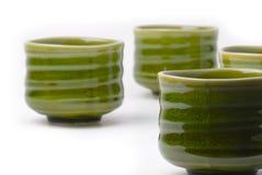 Quattro tazze di tè cinesi Fotografia Stock Libera da Diritti
