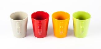 Quattro tazze di tè di colore Fotografia Stock Libera da Diritti