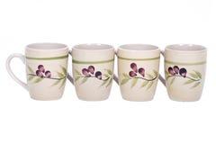 Quattro tazze dipinte Immagini Stock