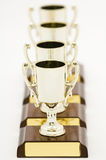 Quattro trofei Fotografia Stock