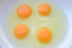 Quattro uova Fotografie Stock Libere da Diritti