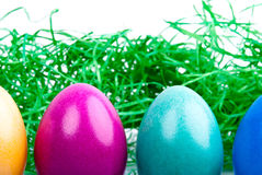 Quattro uova di Pasqua Colorate V3 Fotografie Stock