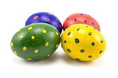 Quattro uova di Pasqua variopinte Immagine Stock