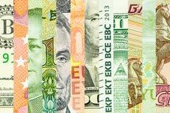 Quattro valute principali del mondo Fotografia Stock