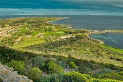 Quattro Vanelle e o Lido Burrone, S e Ilha de Favignana fotografia de stock royalty free