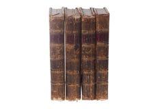 Quattro vecchi libri immagini stock