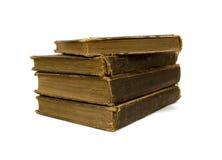 Quattro vecchi libri Fotografia Stock