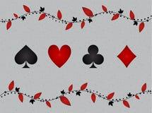 Quattro vestiti delle carte con ombra dentro illustrazione di stock