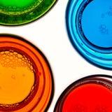 Quattro vetri colorati Fotografie Stock