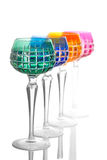 Quattro vetri di colore su un contatore della barra Fotografia Stock Libera da Diritti