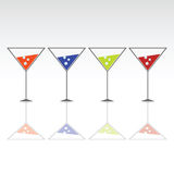 Quattro vetri per la bevanda con ghiaccio Fotografia Stock
