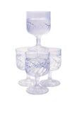 Quattro vetri Vi della vodka illustrazione di stock