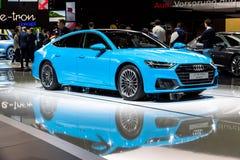 Quattroauto van Audi A7 royalty-vrije stock afbeelding