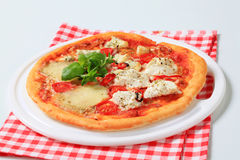 Quattroformaggi van de pizza stock afbeelding