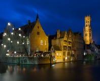 Quay à Bruges, Belgique images stock