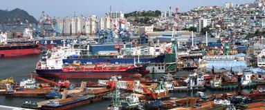 quay Кореи города busan гаван южный стоковое изображение