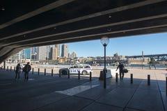 Quay от оперного театра Стоковое Изображение RF
