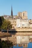 Quay Рекы Сена в Париже Стоковое Изображение RF