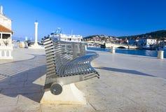 Quay. View of quay in Tragir (Croatia Stock Photos