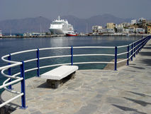 Quay. The port in Greece, Crete Royalty Free Stock Image
