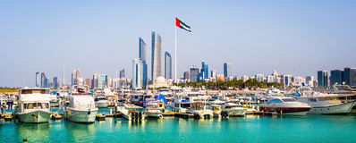 Quay in Abu Dhab Royalty Free Stock Images