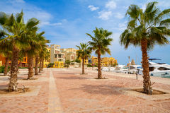 Abu Tig Jachthafen. EL Gouna, Ägypten Lizenzfreies Stockbild