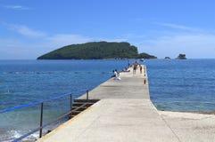 Quay in Adriatic sea Royalty Free Stock Photos