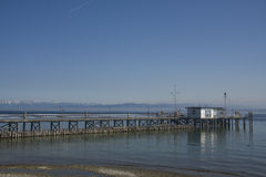 Quay al lago di Costanza Immagine Stock