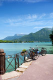 Quay in Annecy lake Royalty Free Stock Images