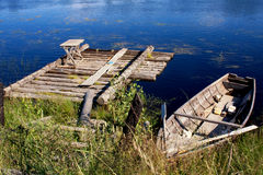 Quay antiquato di legno Immagine Stock Libera da Diritti
