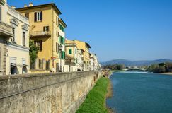 Quay of the Arno River in Florence royalty free stock images